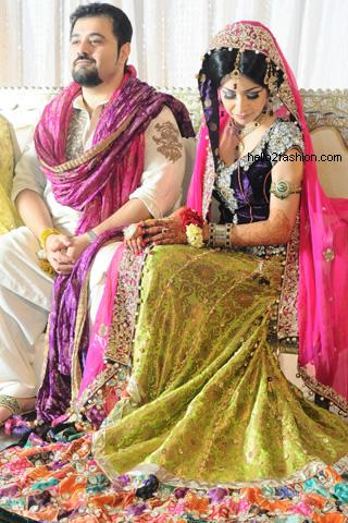 Ahmed Ali Butt and Fatima Khan Mehndi & Wedding Pictures