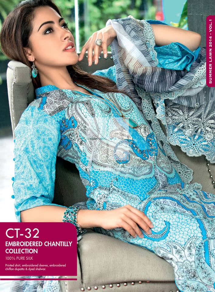 Gul Ahmed Summer Lawn Collection 2014 For Girls (5)