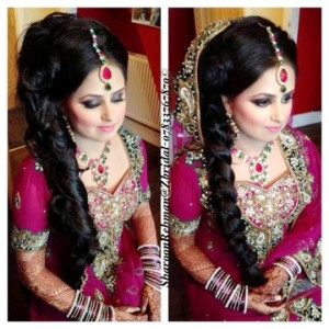 Latest Bridal Hairstyle 2014 For Pakistani & Indian Women (1)