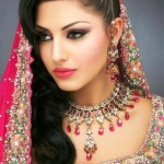 Latest Bridal Hairstyle 2014 For Pakistani & Indian Women (7)