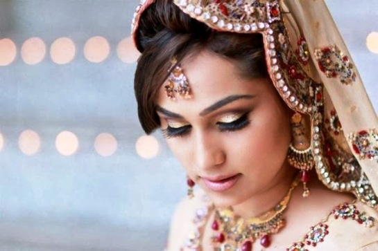 Latest Bridal Hairstyle 2014 For Pakistani & Indian Women