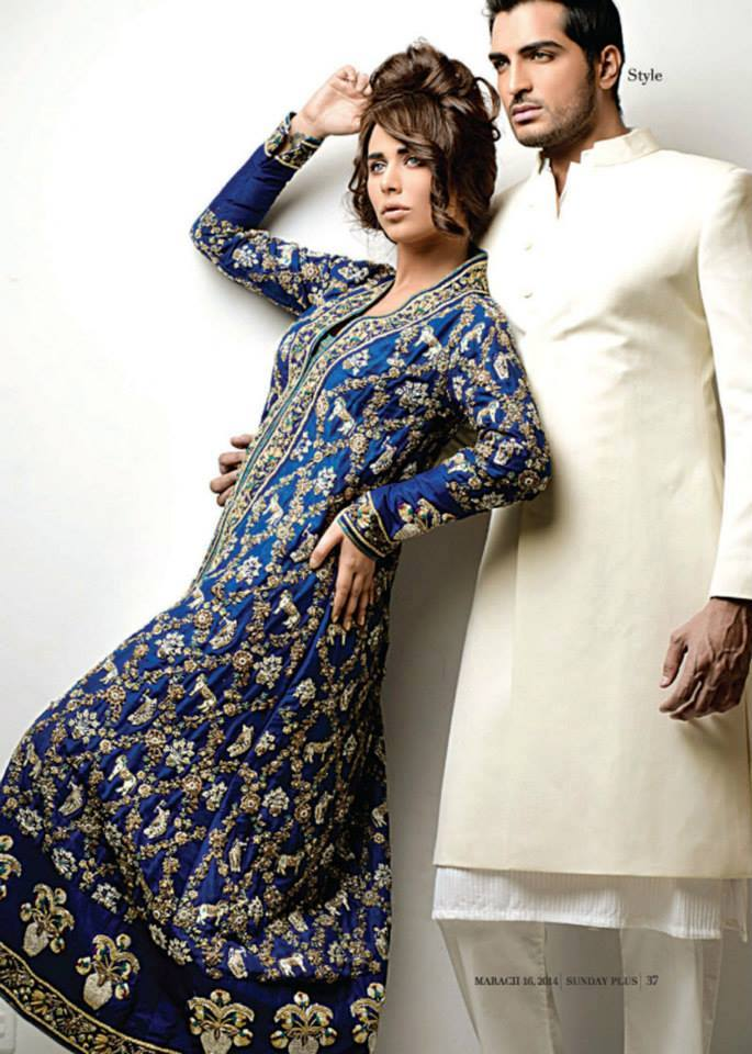 Nida Azwer Latest Wedding Gowns 2014 for Brides & Groom