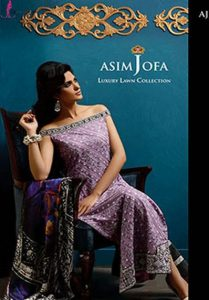 Asim Jofa New Embroidered Lawn 2014