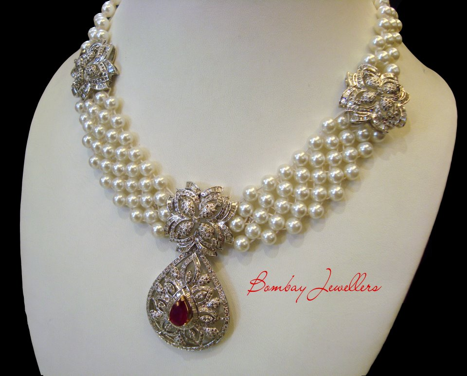 Fashionable Necklace Latest Designs by Bombay Jewellers