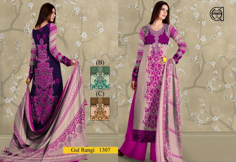 Gul Rangi new lawn collection 2014