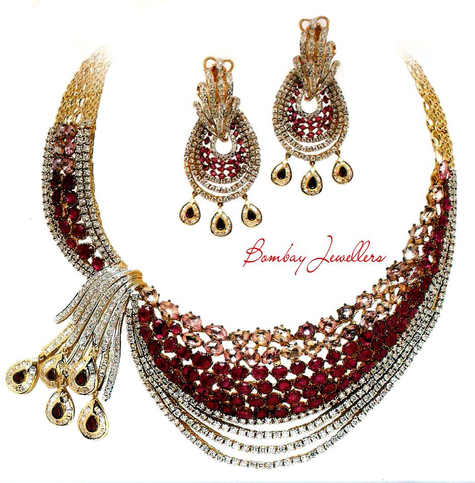 fashionable necklace designs by bombay jewellers