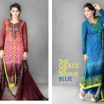 The Graceof Divine Blue Jhilml lawn 2014 by sitara textiles