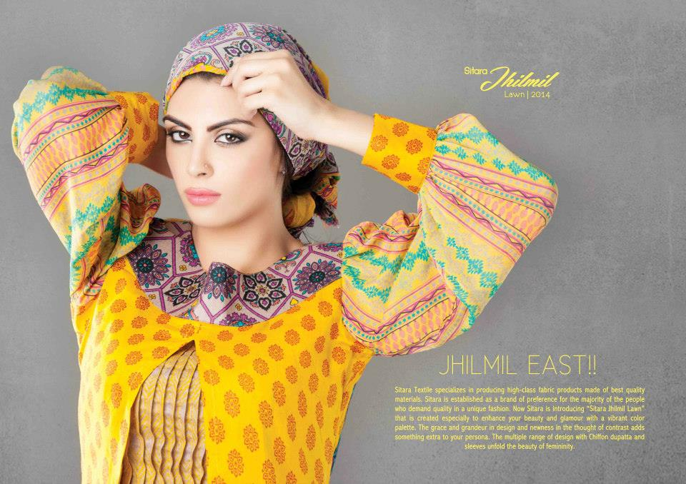 Sitara Latest fashion Jhimil lawn collection 2014 for women