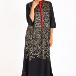 ego black dress contras with white