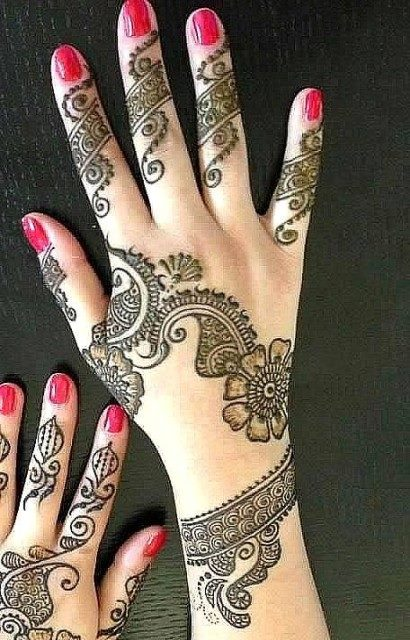 Mehndi Designs For Girls : Attraction hand mehndi design for girls