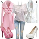 Latest fashion for girls in pink long shirt, winter collection for girls in pink color