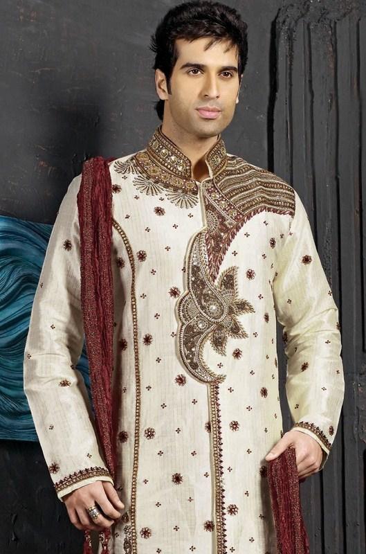 Latest Shairwani Design for boys