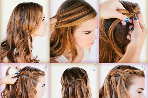 New Stylish Hair Style For Girls 2014 2015 Latest
