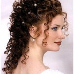 beautful and curling hair style for girls,