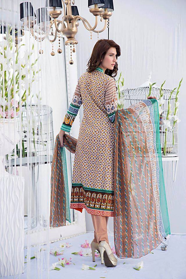 Amna Ismail Embroidered Lawn beautiful dress