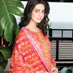 Amna Ismail Embroidered Lawn red color