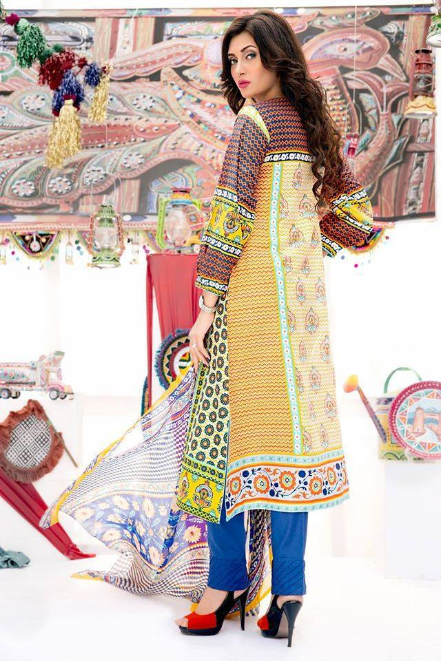 Amna Ismail Embroidered Lawn Collection 2015 With  low price