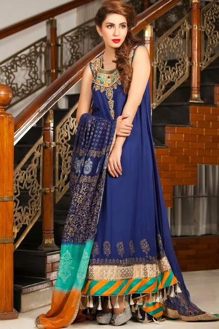 New Eid Dress Sheer Party New collection 2015