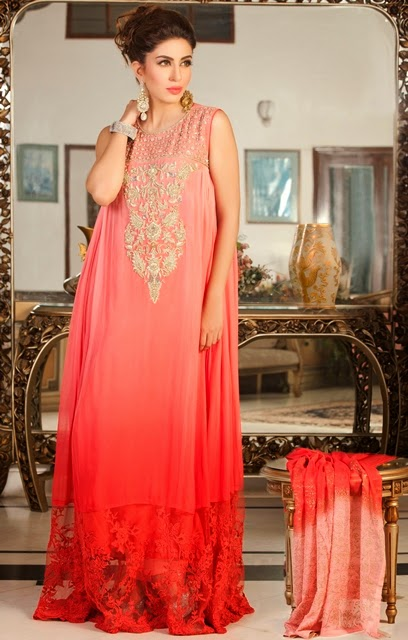 pink and red color dress design