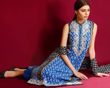 full blue color in khaadi lawn