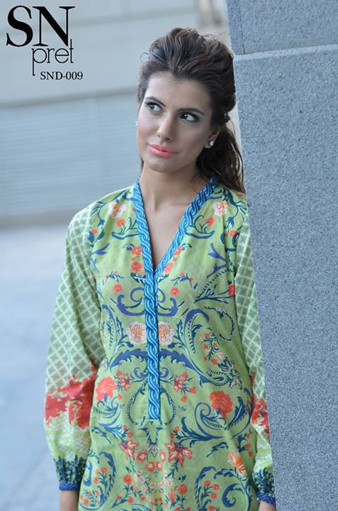 Digital lawn prints for women