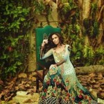 Sumptuous, prismatic, and colorful nod of the spring season make these ornate Ombre gowns of Floral Tapestries embroidered dreams' 2015 by Tabassum Mughal imperial and awe-awesome. These dresses are a lovely mixture of art and nature. All these bridal outfits 2015 by Tabassum Mughal have been adorned with aromatic blooming flowers, with the gilded floral motifs.Lets see beautiful dresses for every girls and women.