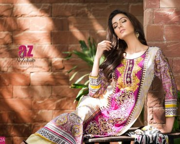 Eid Wear Al-Zohaib Textile Collection 2015 Women Embroidered by Mahnoor