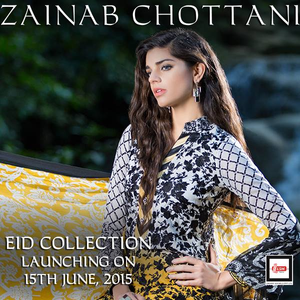 Zainab Chottani dresses summer Eid wear by LSM 2015