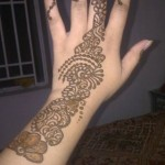 Half arm Mehndi Design