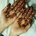 bright red color of mehndi