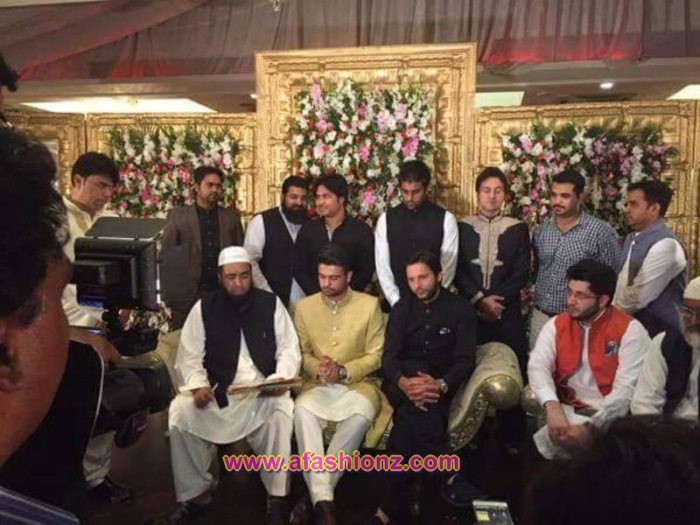Wedding Pics of Cricketer Ahmed Shahzad and Sana Murad
