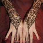 Cute Mehendi Designs of chand raat for girls 2015