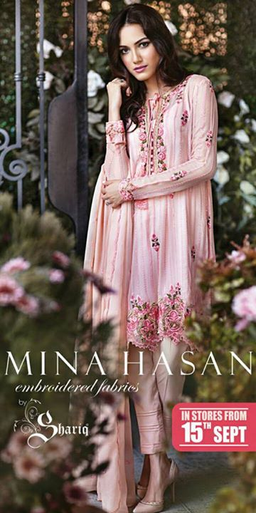 Mina Hasan Embroider dress collection of 2015