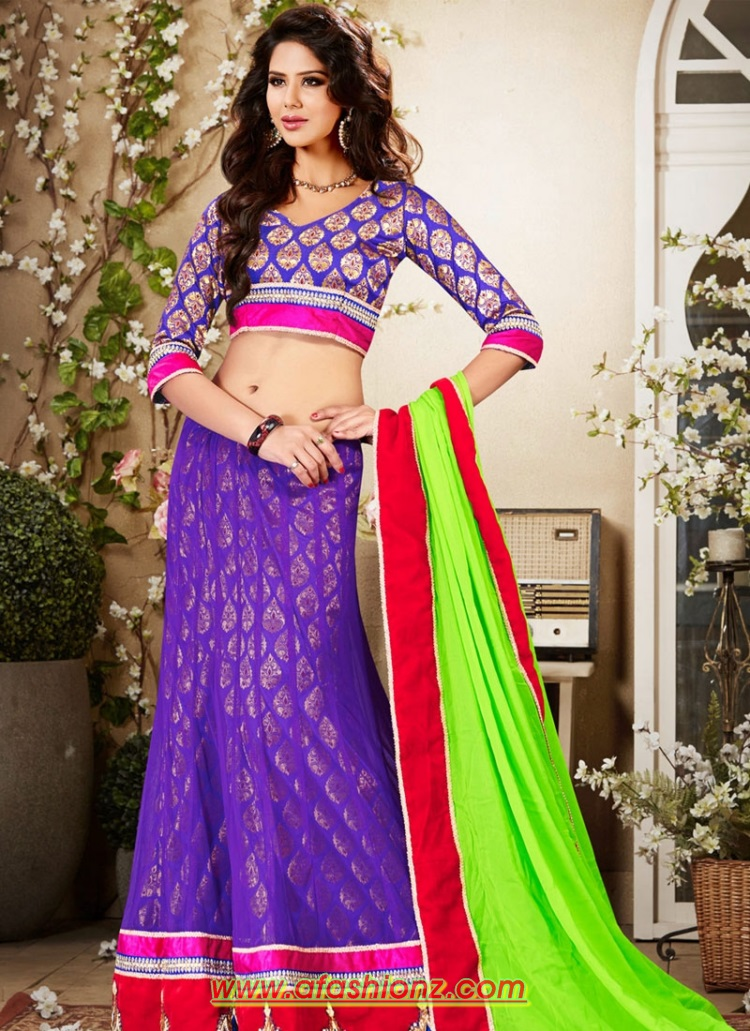 saree lehenga with blouse dress designs for girls 2015 16