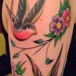 Latest Gallery of Swallow Tattoos Art Designs For Girls 2015-16
