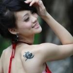 Sun & Moon Design Tattoos Art For Girls 2015-16