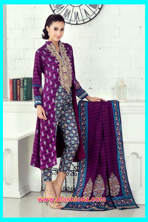 Alkaram Attractive Rangon Ki Dunya Winter Dresses 2015-2016 For Women