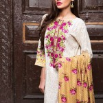 Latest Khaadi White Colorful Dress