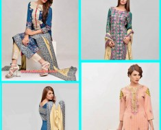 Latest Gallery Of Areeba Saleem ZS Textile Jacquard & Peach Leather Shawls Fall Winter For Girls 2016-2017
