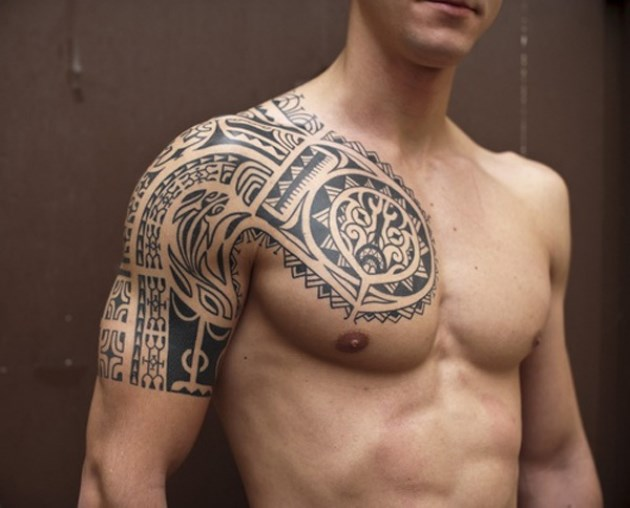 Back tattoo ideas tribal tattoo tattoos design shop for Tribal half sleeve tattoos