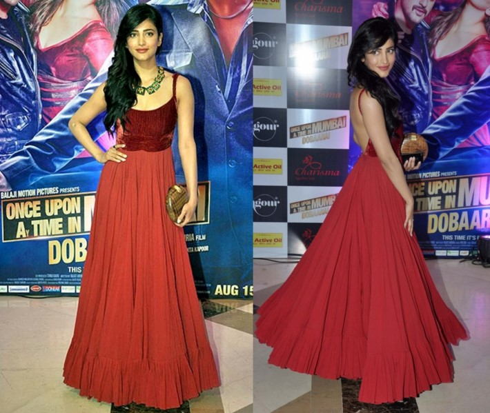 Bollywood Actress Shruti Hassan Designer dresses