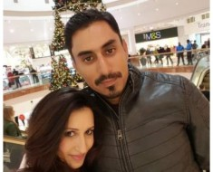 Cricketer Nasir Jamshed with Wife