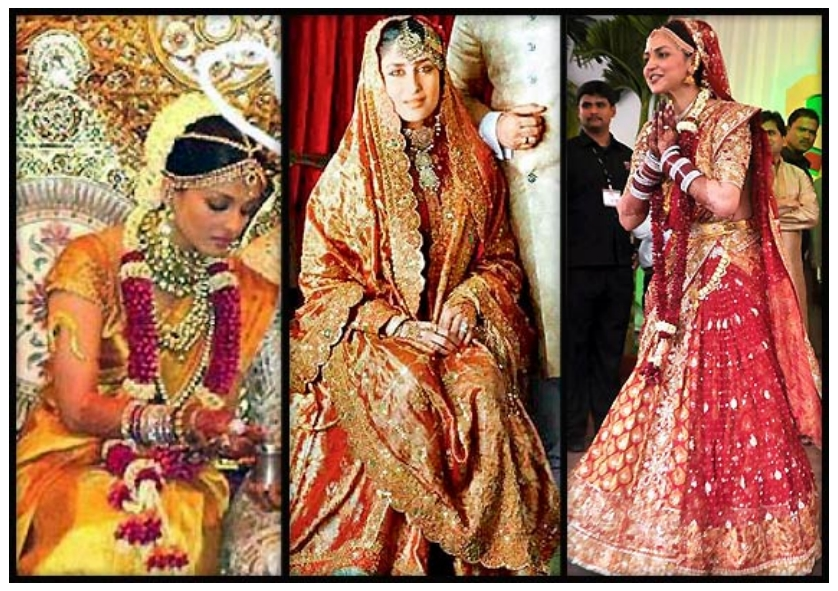 Indian actresses wedding dresses new trends for Wedding dresses online in india