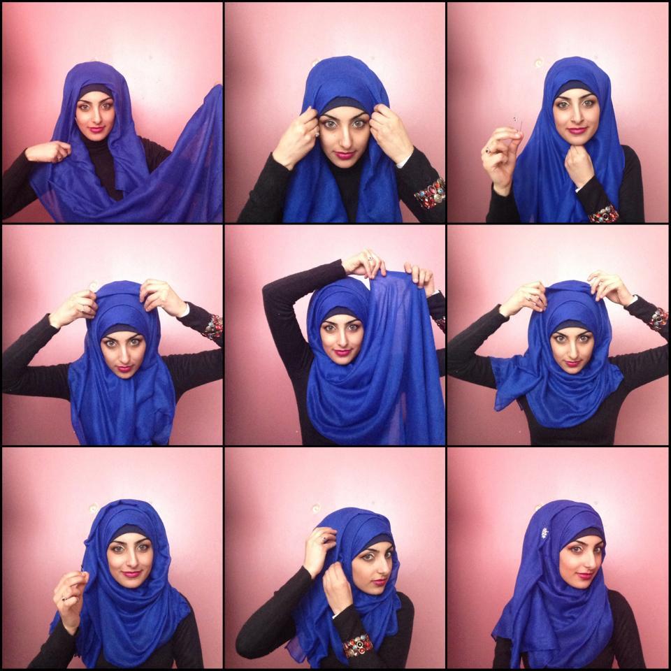 how to wear triangle scarf hijab