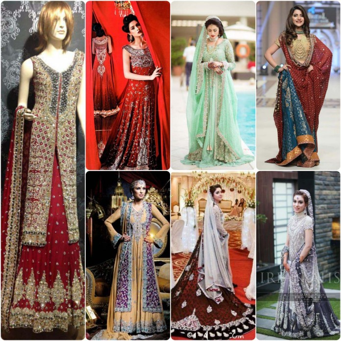Pakistani bridal dresses lengha designs pictures for Online pakistani wedding dresses