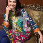 Nishat Floral Printed Linen Summer Collection 2016-17