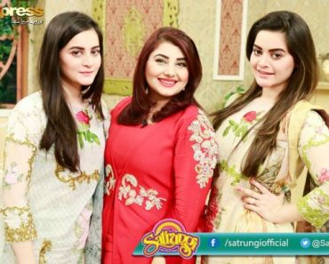 Aiman and Minal Khan Latest Photo Shoot With Their Mother In Morning Show GMP (2)