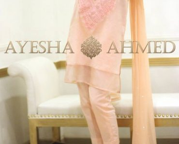 Ayesha Ahmad Cotton lawn kurta thread embroidery pants & Dupatta Collection