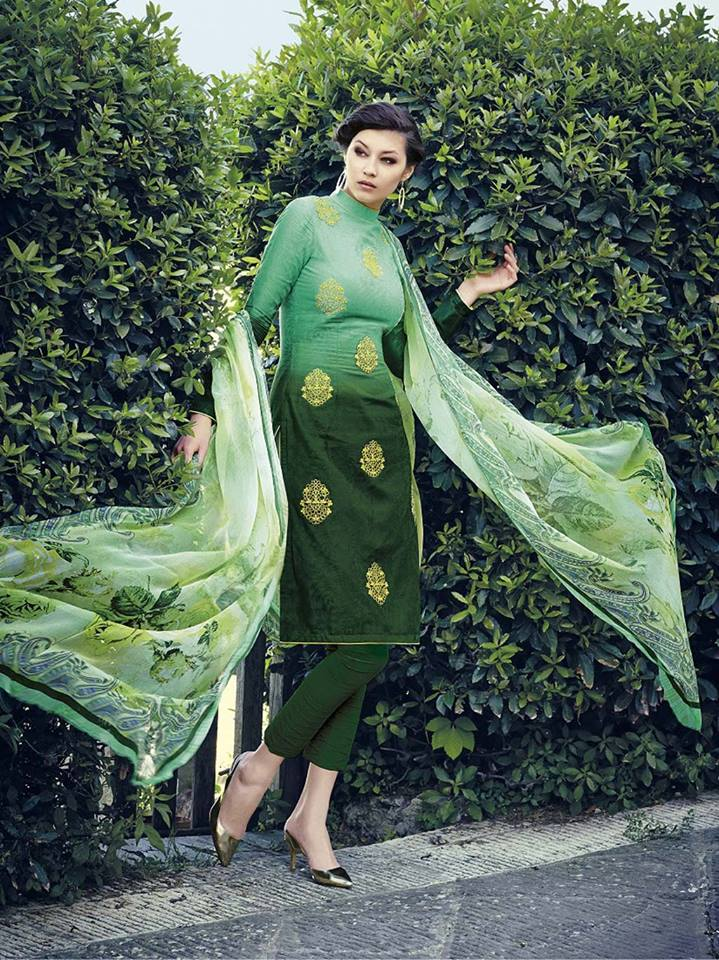 Pakistani Designer Dresses Churidar Pajama Trend For Girls 2016