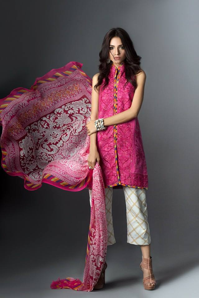 Sana Safinan Luxury Formal Wear Unstitched Silk Tunic Collection 2016